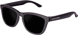 Hawkers Men's Carbono Black Dark One CCTR02 Rectangular Sunglasses, Black, 12 mm