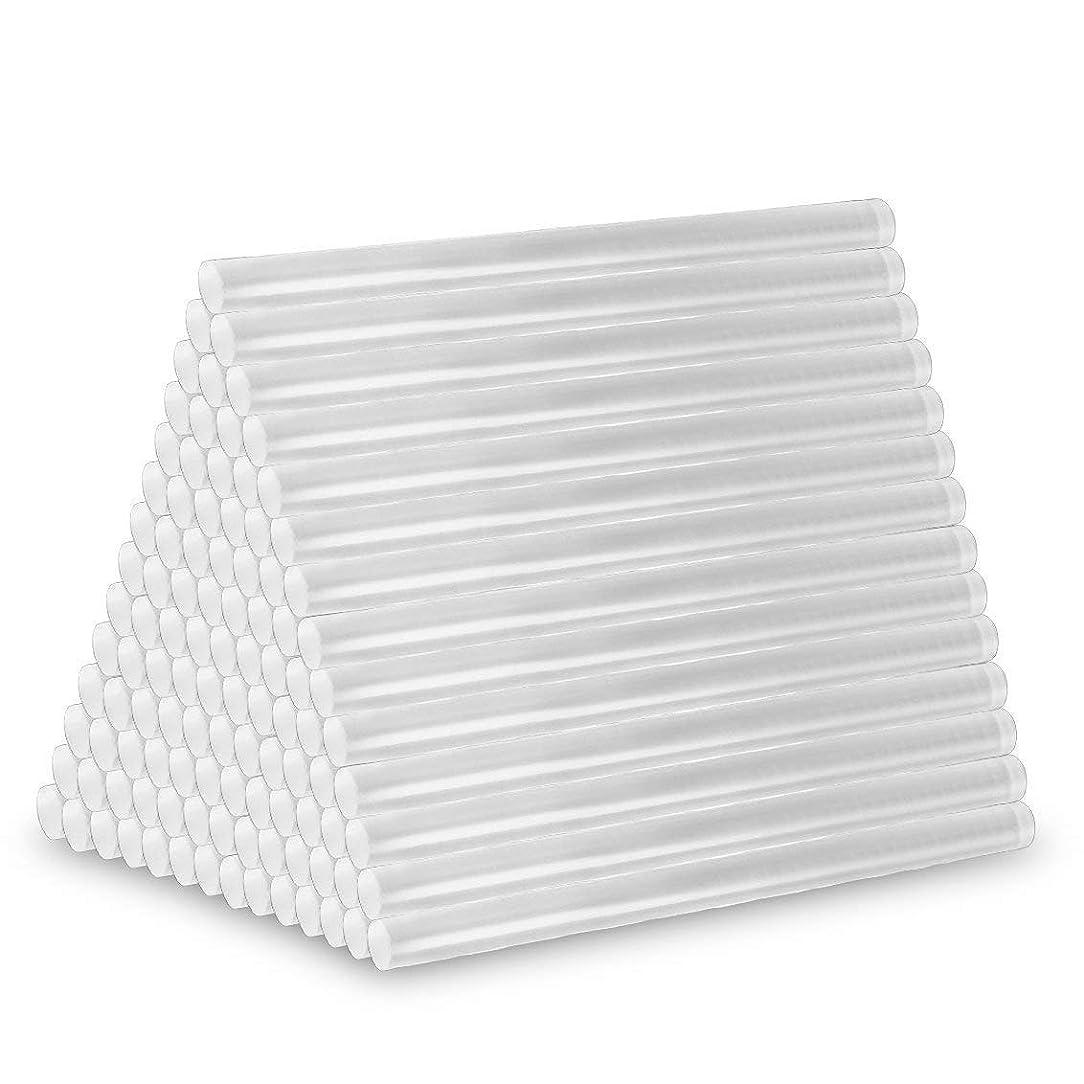 揺れるマーティフィールディング繊細グルースティック透明材質ホットメルトかつ強力粘着 7mm*100mm 高温ボンドガン/グルーガン/ピタガン替え用 大容量100本入(クリア)