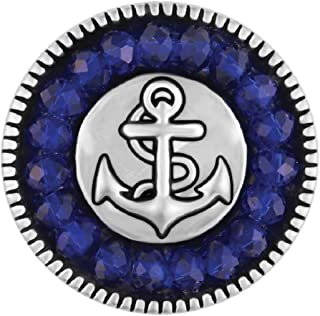 Blue Facet Anchor SN21-36 (Standard Size) Interchangeable Jewelry Accessories