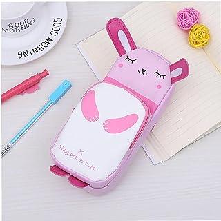 1 PC PU Olówek Cute Bunny Pen Torba Pokrowiec Duza Pojemnosc Pióro Papiernicze Dostawy Papiernicze dla studentów - Pink, S...