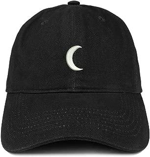 Trendy Apparel Shop Crescent Moon Embroidered Soft Low Profile Adjustable Cotton Cap