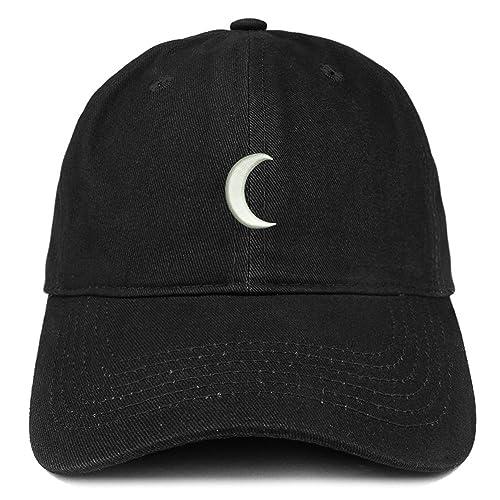 9714b417 Trendy Apparel Shop Crescent Moon Embroidered Soft Low Profile Adjustable  Cotton Cap