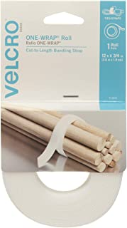 VELCRO Brand ONE-WRAP Bundling Ties – Reusable Fasteners for Keeping Cords and Cables Tidy – Cut-to-Length Roll, 12ft x 3/...