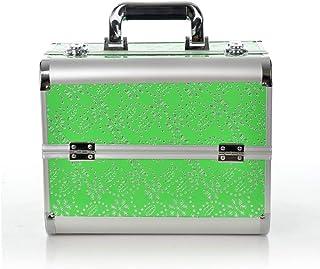 07ec3507b Maletín para Maquillaje de Uso Profesional Caja de Belleza con4Bandejas  Extensibles Uso de Viaje (Color