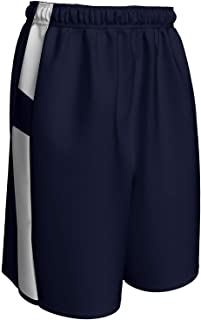 CHAMPRO Crossover Reversible Basketball Short, Adult 2X-Large, Navy, White
