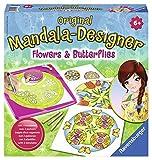 Ravensburger 29809 - Flowers and Butterflies, 2 in 1 - Mandala Designer Midi -