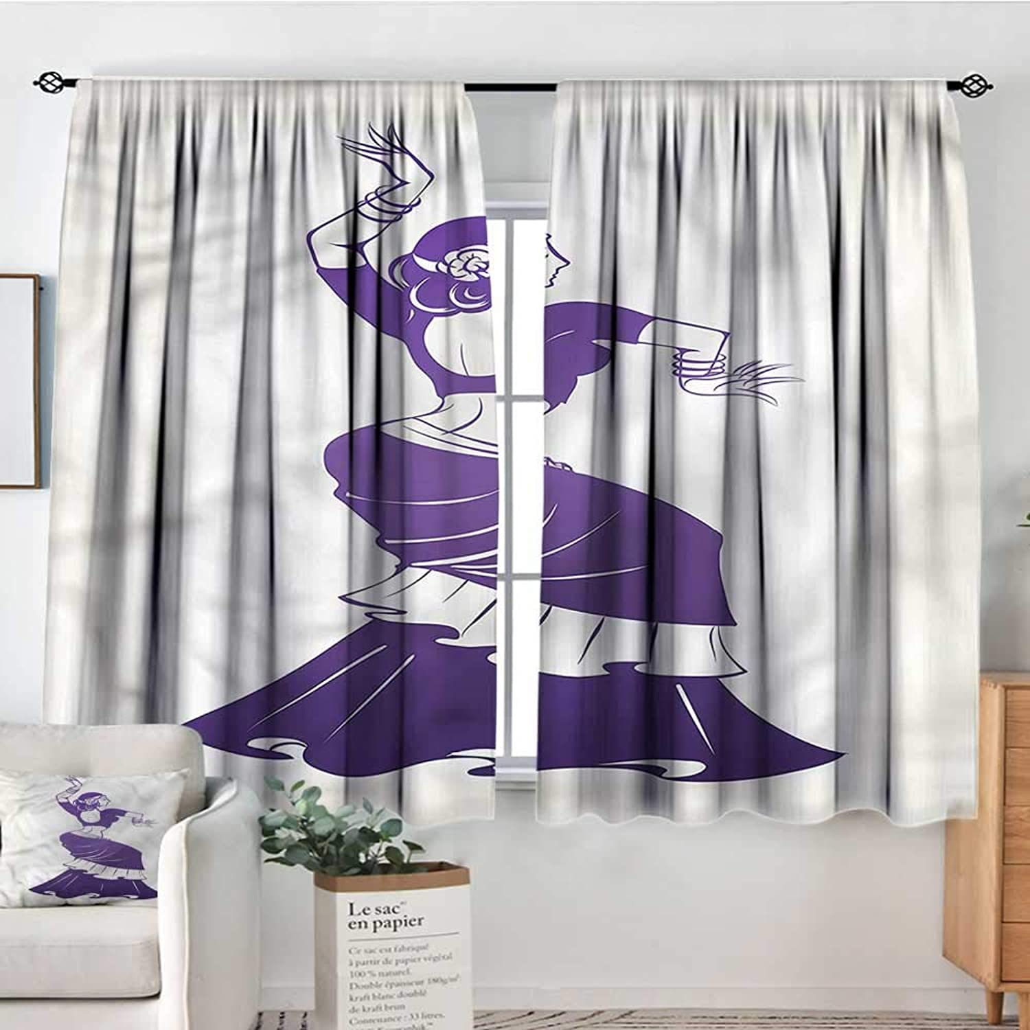 Gypsy,Room Darkening Curtains Roman Cultural Folklore Motif 52 x63  Nursery and Kids Bedroom Curtains