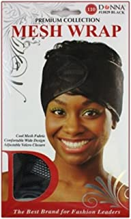 Donna's Premium Cool Mesh Fabric Comfortable Wide Adjustable Mesh Wrap (Black)