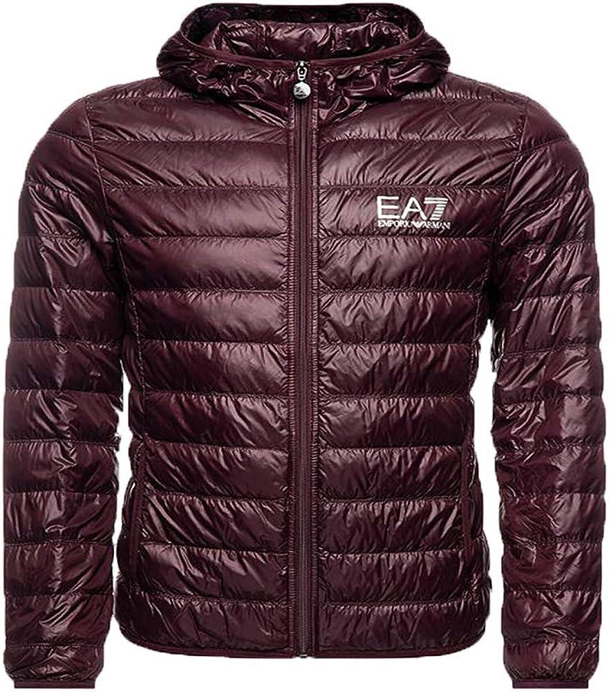 Emporio armani ea7 core logo down hooded jacket fudge 8055187159708