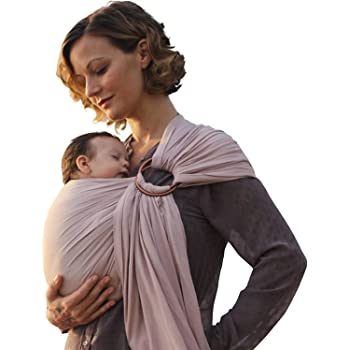 Nalakai(ナラカイ) 格別な ベビースリング-ソフトなバンブー、リネン生地-軽量な スリング-新生児、ベビー、乳幼児、幼児に だっこひも-プレゼントに-授乳ケープに(ウォームサンド)