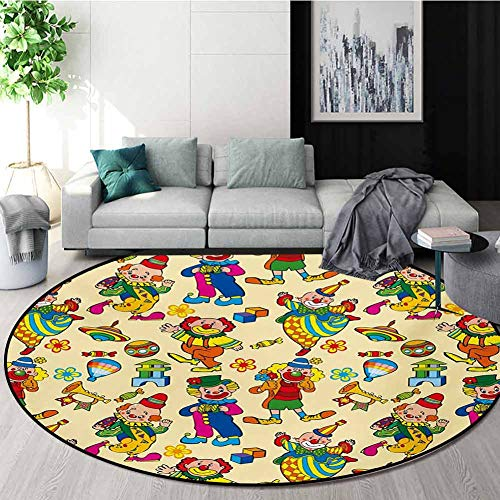 Find Bargain RUGSMAT Nursery Warm Soft Cotton Luxury Plush Baby Rugs,Circus Carnival Artful Festive ...