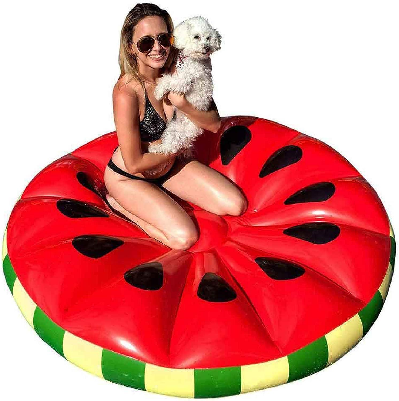 RJMOLU Aufblasbares Pool-Sich hin- und herbewegendes Flo, Sich hin- und herbewegendes Bett des Wassermelone-3D   Frucht-Wasser-Klubsessel tragbare Spiel-Wasser-Spiel-Matte für Feiertag