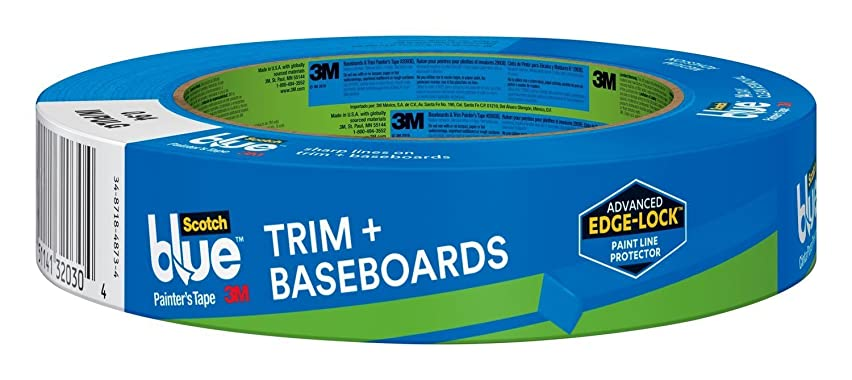 3M 2093EL-24E ScotchBlue Trim + BASEBOARDS Painter's Tape, 0.94-Inch x 60-Yard, 1 Roll.94, Blue (3)