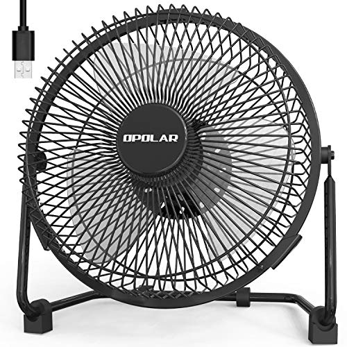 OPOLAR USB Powered Desk Fan with USB plug, 9 Inch Quiet Portable Fan with Enhanced Airflow, 2 Speeds,Perfect Personal Cooling Fan for Home Office Table