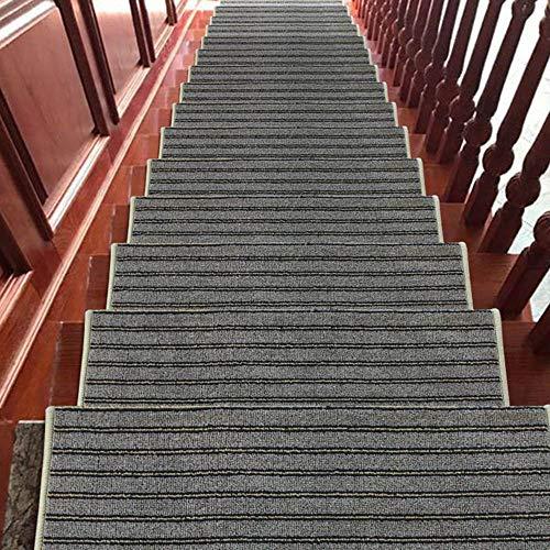 Area Rugs Haizhen Lot de 7 tapis d'escalier antidérapants sans colle, auto-adhésifs, lavables en machine, 65 x 24 cm, 75 x 24 cm, 80 x 24 cm, 90 x 24 cm (couleur : 3, taille : 75 x 24 cm)