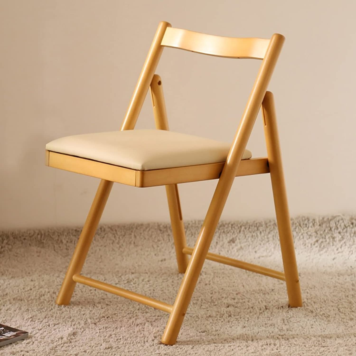 FENGTAIQIAN Chair dining chair solid wood backrest adult home niture chair folding chair  small stool (color   C)