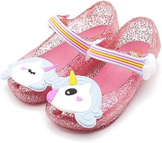 Mini Style Cute Unicorn Girls Jelly Shoes Dargon Girl Non-Slip Kids Sandals Toddler