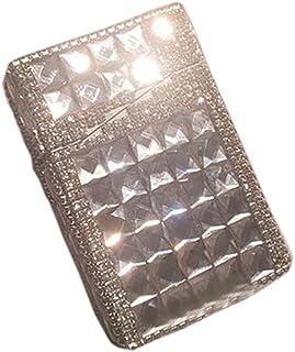 Creative Gift Rhinestone Cigarette Case Women Cigarette Holder Box,Transparent