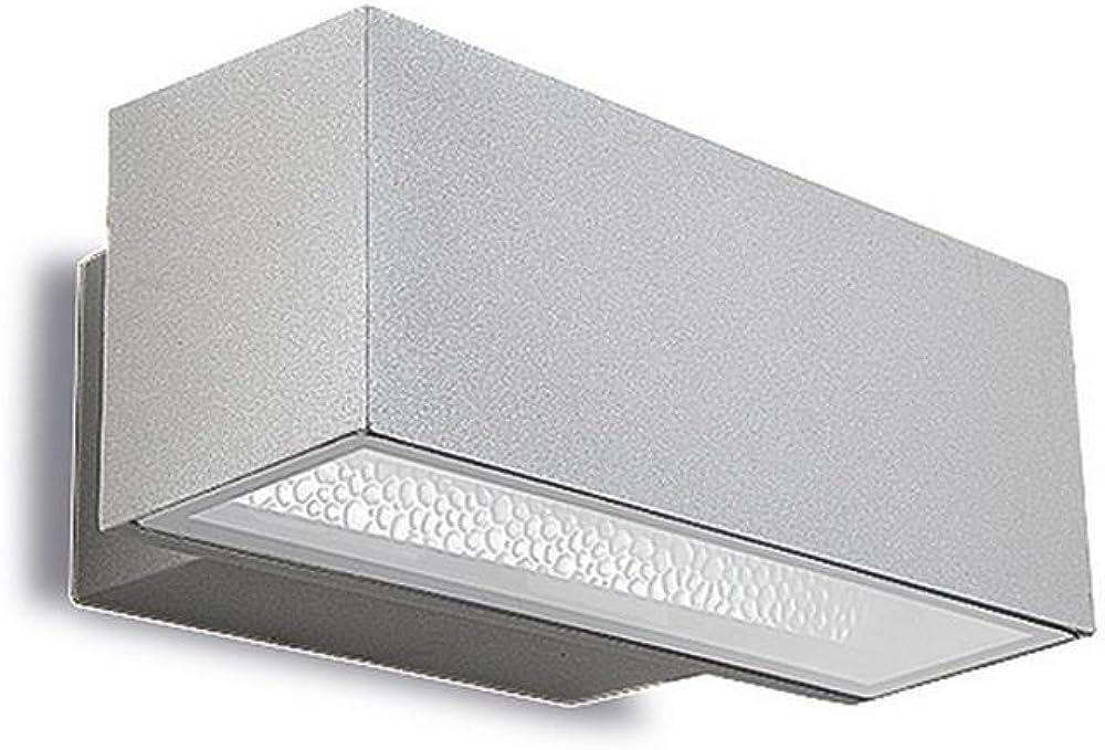 Leds c4,lampada da parete afrodita,in vetro e alluminio 05-9438-34-37
