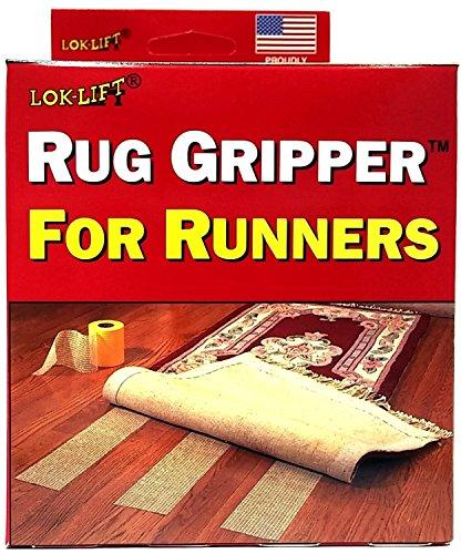 Lok-Lift Rug Gripper for Runners Non-slip Tape, 4-Inch by 25-Feet (Pack of 2) by Optimum Technologies