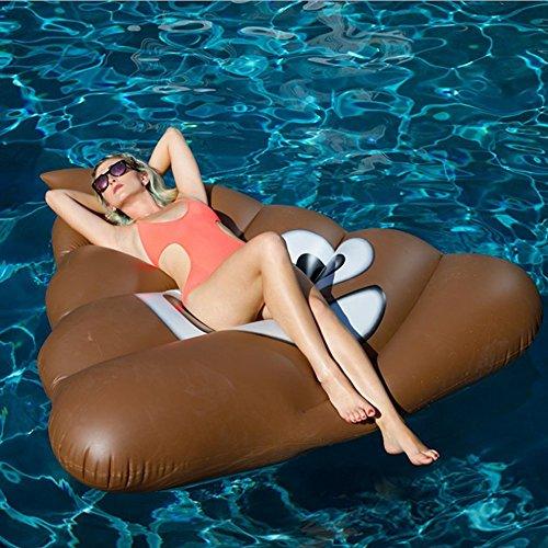 Flotteur de piscine de haute qualité Lit flottant Rangée flottante de tabouret gonflable de PVC environnemental, jouet gonflable de flotteur de piscine Adulte et chaise flottante de récréation de l'eau de lit d'enfant 150 * 165CM KKY-ENTER