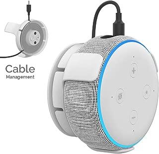 AhaStyle Echo Dot用 壁掛け ホルダー エコードット用ホルダー Echo Dotアクセサリー スピーカー スタンド Alexa マウント 保護ホルダー コード収納 (白)