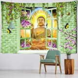 LIZHIOO Tapiz De Buda, Tapicería De Pared De Arte Budista Colgante Multifuncional,...