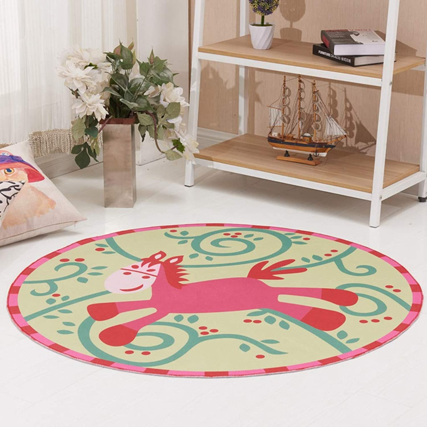 WOANA Home Decoration Area Rug Cartoon Printed Play Crawling Carpets Floor Rug Living Doormat Chair Mat