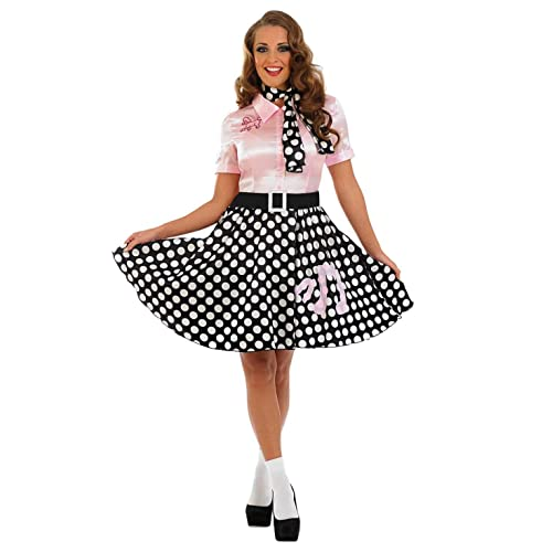 Fun Shack FN3627S Costume, Womens, 50s Poodle Dress, Small