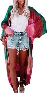 Cocoty-store 2019 Mujer Gasa Chal Impresión Cárdigan Floral Boho Verano Cubrir Blusa Ropa de Playa, S/M/L/XL/XXL