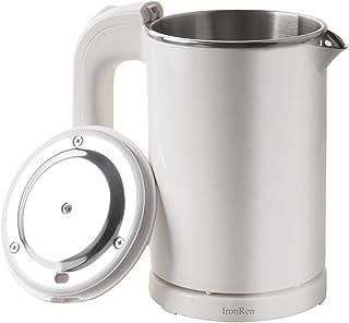 کتری برقی قابل حمل 0.5 لیتر ، کتری مینی مسافرتی ، کتری آب استیل ضدزنگ - مناسب برای مسافرت رشته های پخت و پز ، آب جوش ، تخم مرغ ، شیر (شیر 110V)