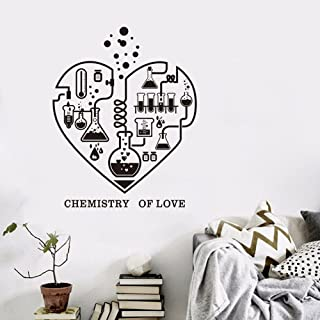 Wall Decal Art Chemisty Science Wall Sticker for School Laboratory Chemistry of Love Heart Home Decal for Teachers Childre...