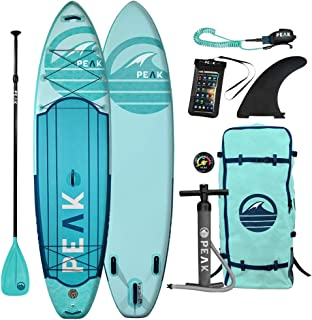 PEAK 11 英尺远征充气站立式划桨板,带 Adj 板、旅行背包和线圈皮带