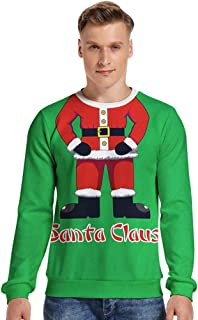 Men's Festive Santa Claus Ugly Christmas Sweater Pullover Knitted Jumper