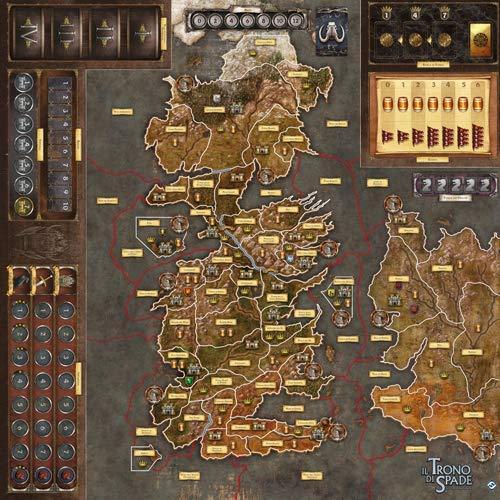 Asmodee-Il Trono di Spade Il Gioco da Tavolo 2nd Edizione La Madre dei Draghi Gamemat, Colore, 7214