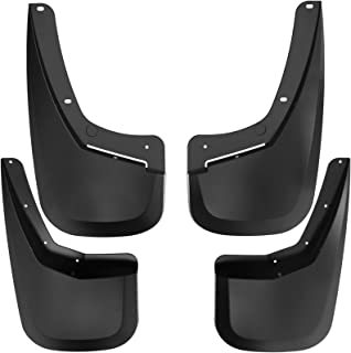 oEdRo Mud Flaps fit for 2007-2013 Chevy Silverado 1500 (fit Models Without OEM Fender Flares ONLY), Full Set Front Rear Splash Mud Guards
