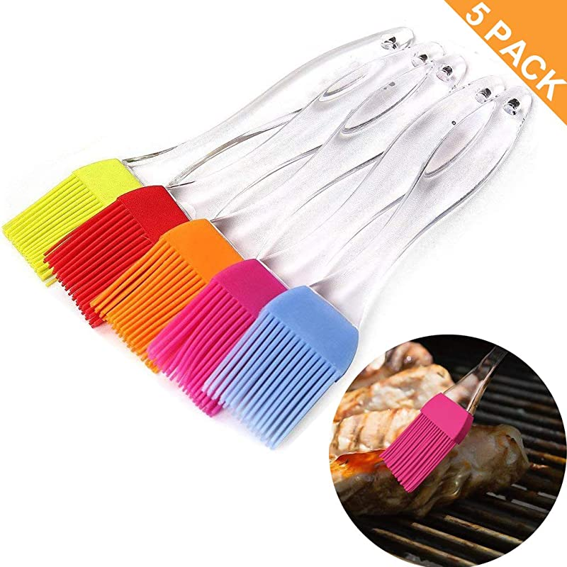 Silicone Basting Pastry BBQ Brush Set Uniwit 5 PCS Silicone BBQ Pastry Oil Brush Turkey Baster Barbecue Utensil Use For Grilling And Marinating 6 89 1 28 LW