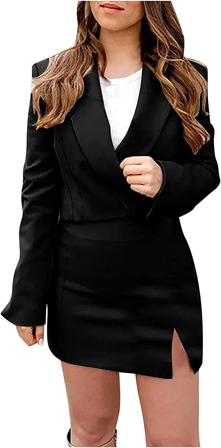 2 Piece Skirt Suit for Women Blazer and Pencil Skirt Fashion Business Set Outfits Elegant Slim fit Skirts Suit Office