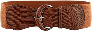 NEW OOPS Elastic Women Wide Belt for Dresses Ladies Brown Black Waist Belt Stretch Thick Belts Cinch