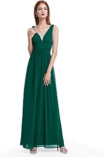 Sleeveless V-Neck Semi-Formal Maxi Evening Dress 09016