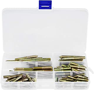 90pcs M6 Dowel Screw Double Ended Threaded Bolts Hanger Bolt Woodworking Furniture Connector 625/30/35/40/50/60mm