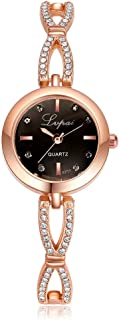 Lvpai Rose Gold Bracelet Watches for Women with Battery Analog Quartz P116