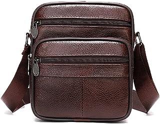 Wanxiaoyyyindjb Sling Bag for Men, Men's Bag Genuine Leather Handbags Men Leather Shoulder Bags Men Messenger Bags Small C...