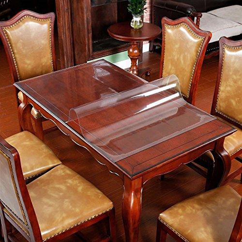 Mantel protector de mesa de plástico transparente rectangular ...