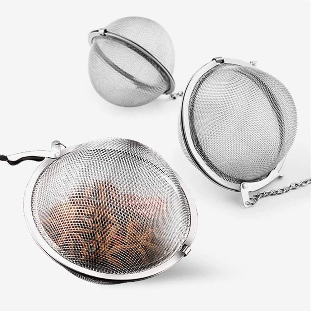 Stainless Steel Mesh Tea Balls half with Chain Extended for Mak In a popularity Hooks
