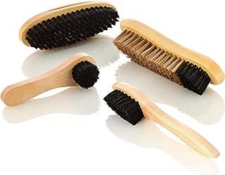 Kaps Schuhputz-B/ürste Strapazierf/ähige Borsten aus 100/% Pferdehaar oder synthetischem Material Reinigen /& Polieren von Schuhen Stiefeln /& Taschen aus Leder Zum Putzen