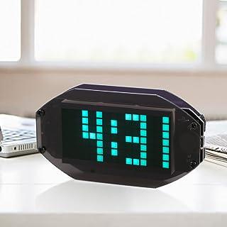KKmoon DIY Black Digital LED Clock Matrix Desktop Alarm Clock Electronic Learning Kit Module with Remind Function ℃/℉ Temp...