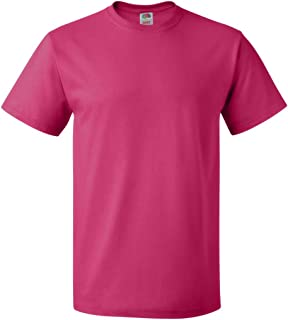 Fruit Of The Loom Men's Seamless Lightweight T-Shirt, Cyber Pink, X-Large