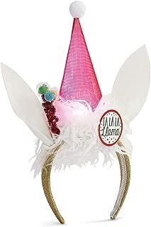 Llama Hat Winter White LED Light Up Adult's One Size Polyester Christmas Fashion Headband