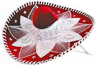 Red and White Mariachi Sombrero